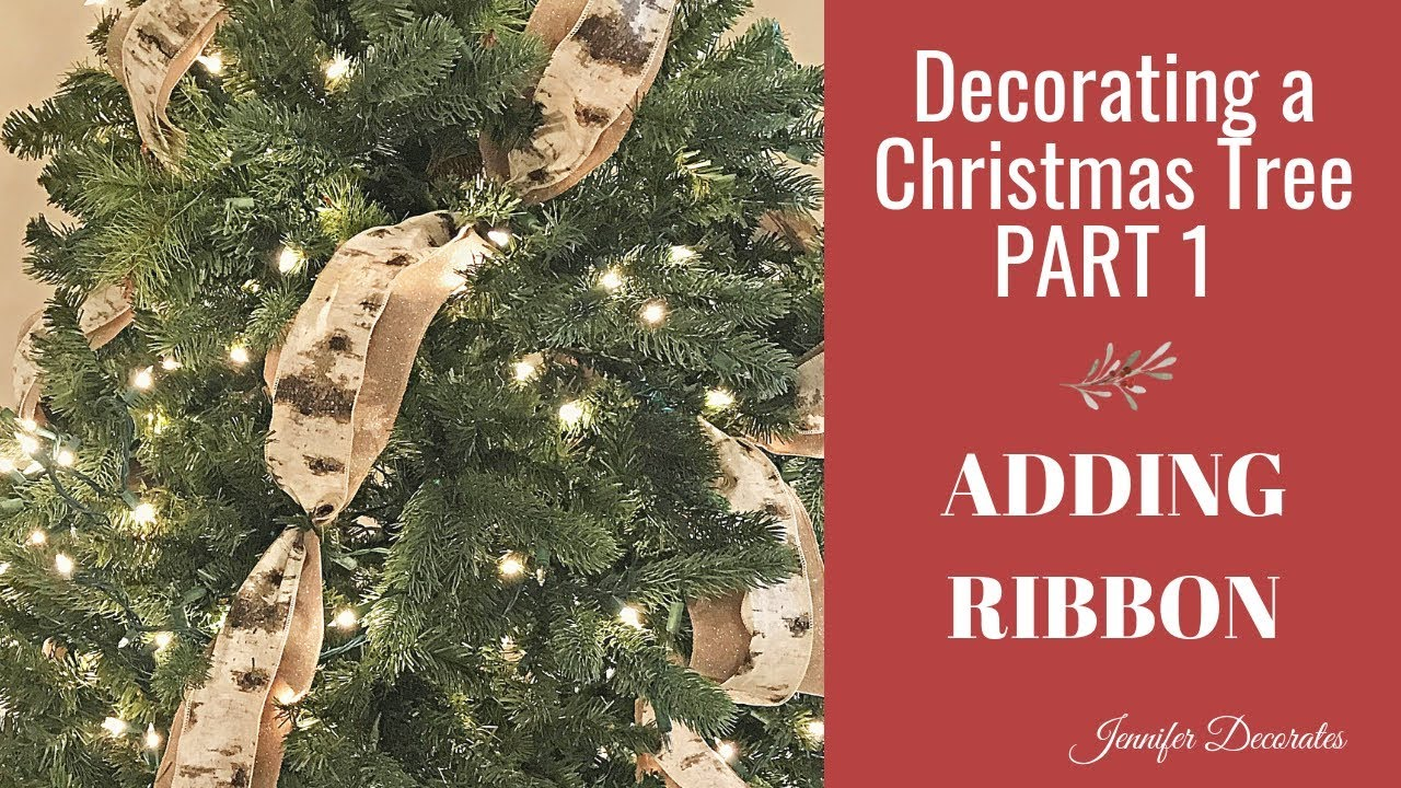 Christmas Tree Decorating - ADDING RIBBON