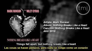 Letra Traducida Nothing Breaks Like a Heart de Mark Ronson ft. Miley Cyrus Video