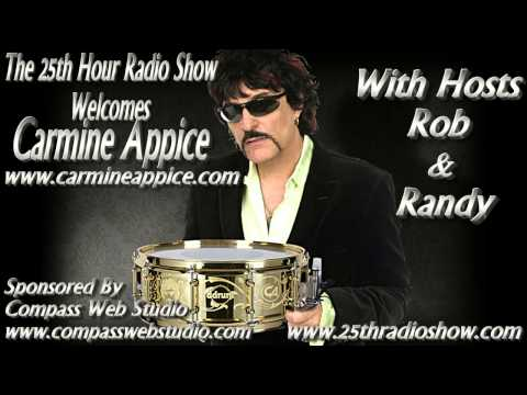 "Carmine Appice - Hall Of Fame Drummer - Vanilla Fudge/King Cobra - ""The 25th Hour Radio Show"""