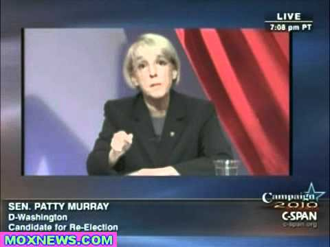 PATTY MURRAY vs DINO ROSSI Washington State Senate Debate pt.1