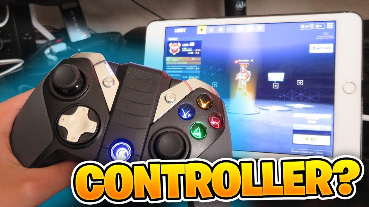 Playing Fortnite Mobile On Ipad Using A Controller Youtube