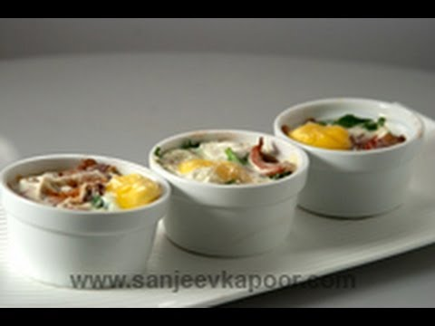 Baked Egg and Bacon Spinach