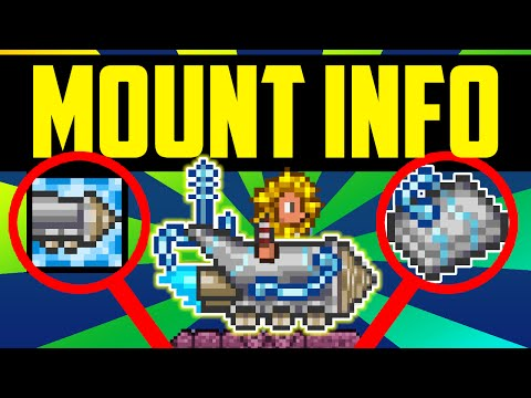 Terraria UNUSED MOUNT Information! - The Story Behind The Terraria Drill Mount! Discontinued Items