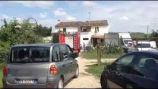 Crolla il tetto di una casa a Selva Piana di Mosciano