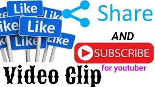 like share and subscribe video clip Full HD