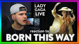 Lady gaga reaction born this way live ...