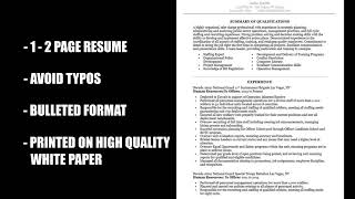 Resumes- Part 1 - Work For Warriors NV