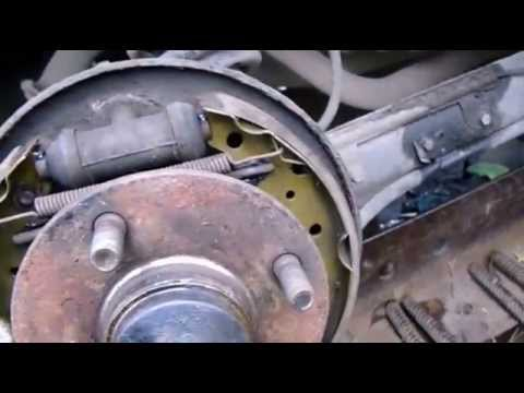 Nissan almera classik замена задних колодок