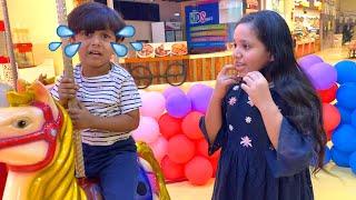 شفا لاعبت البيبي في مدينة العاب Fun day at playground with kids