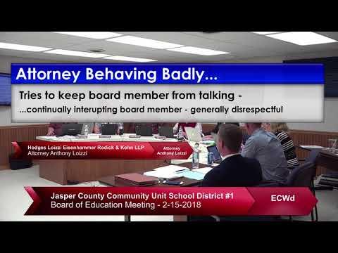 Attorney Behaving Badly