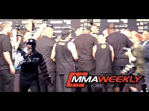 Thumbnail: Chaos Erupts on Stage as Team Mayweather Voltrons Conor McGregor at World Tour New York