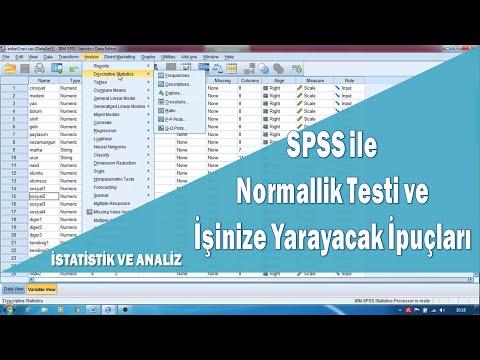 Normallik Testi Spss Normal Dagilim Testi Normal Dagilmayan Veri Icin Cozumler