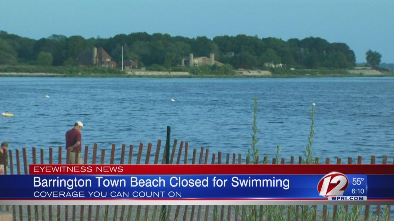 Barrington Town Beach closed for swimming