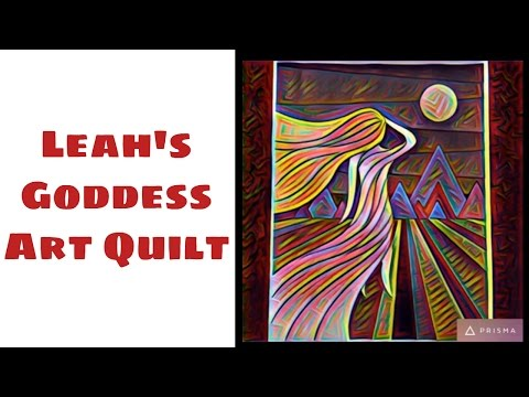 New Goddess Art Quilt with Stained Glass Applique - I Walk the Line with Leah Day