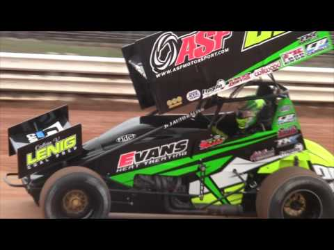 Port Royal Speedway 410 Sprint Car Highlights 3-19-16