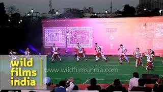 Odissi dancers perform