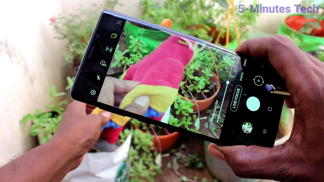 How To Take Background Blurred Image In Samsung Galaxy Note 9 Youtube
