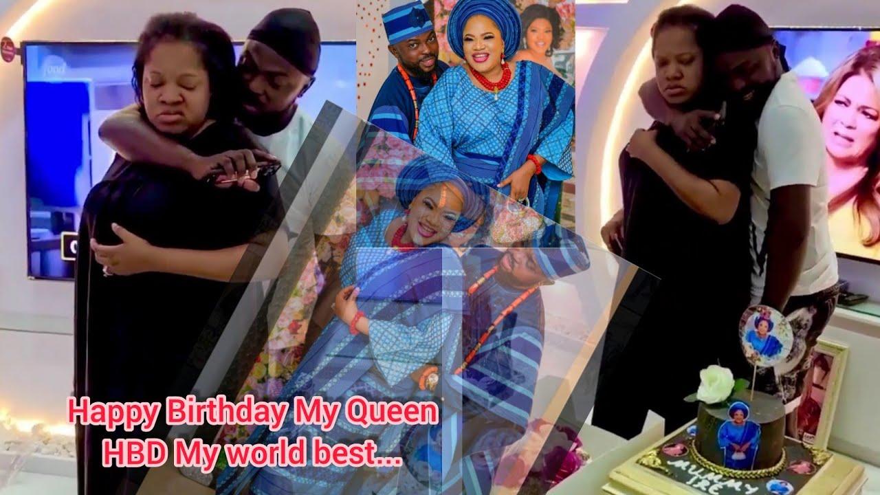 Download TOYIN Abraham's Husband KOLAWOLE AJEYEMI Celebrates Her On Her 40th birthday with