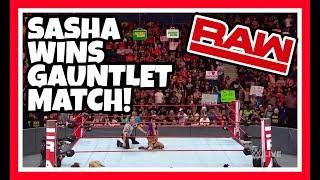 😲 Reaction   Sasha Banks Wins Womens Gauntlet Match   WWE Raw May 28, 2018