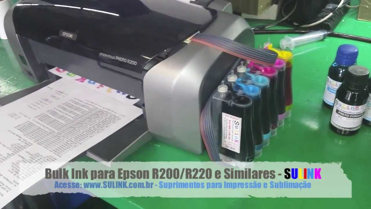 Demonstração Do Bulk Ink R200 R220 R340 E Similares Sulink Youtube