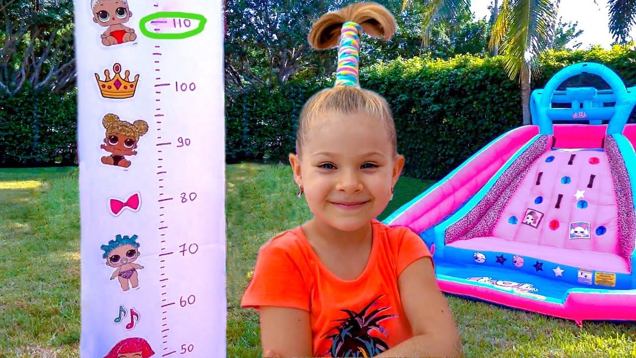 ديانا تريد أن تصبح أطول & وتقفز على الترامبولين