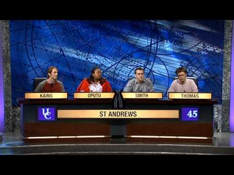 University Challenge S38E14 Exeter, Oxford vs. St. Andrews