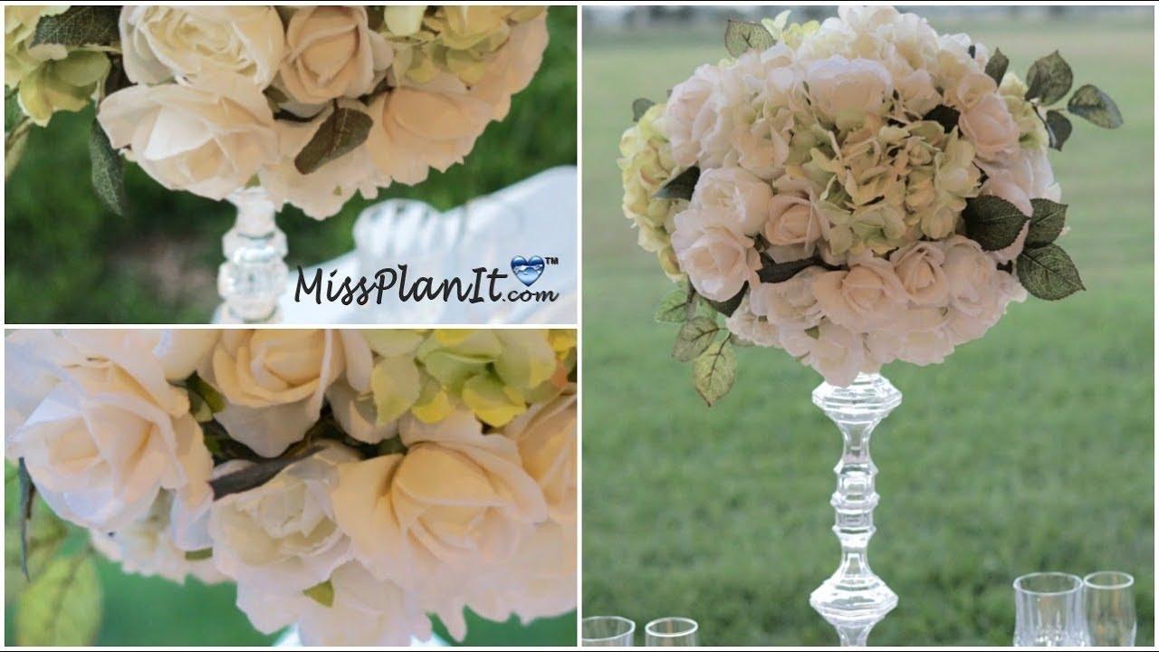 Diy Tall Tuscan Breeze Centerpiece Diy Wedding Decor Diy