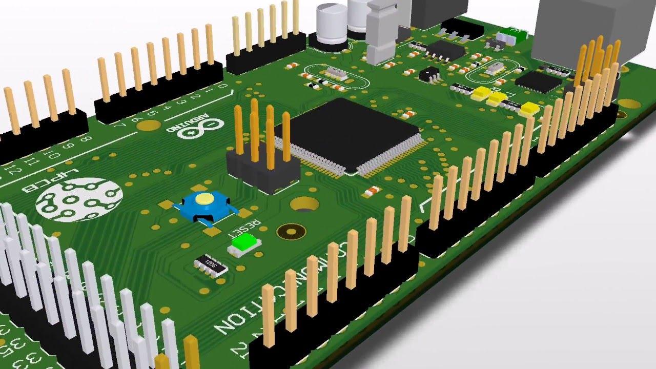 Arduino Mega 2560 - Altium 3D modeling - YouTube