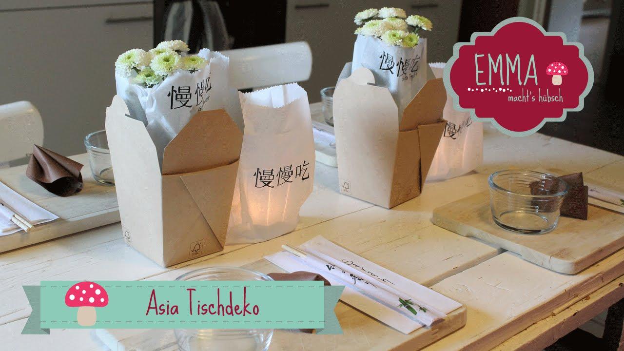 Asiatische Tischdeko Youtube