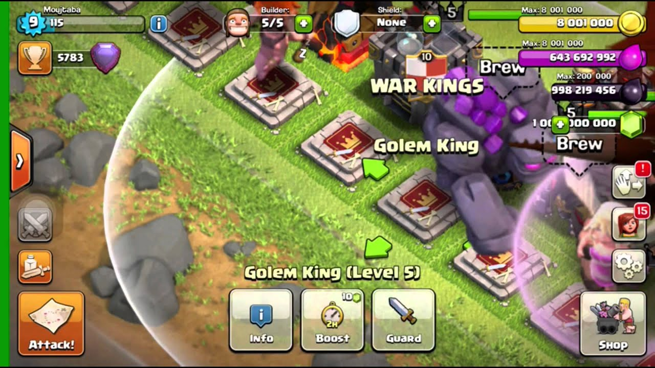 CLASH OF CLANS | WIZARD KING PROOF + DRAGON TOWER AMAZING ...