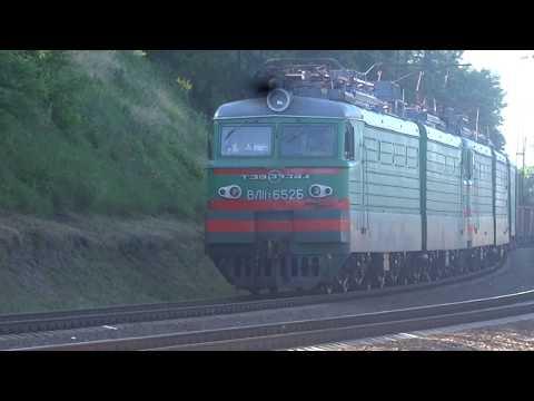 Сплотка ВЛ11.8-652 + ВЛ11.8-628 с грузовым по станции Харьков-Пассажирский
