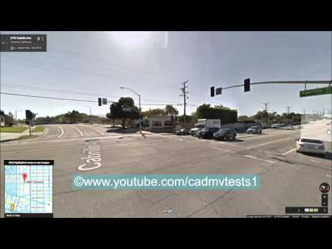 Torrance, California behind the wheel test route #1