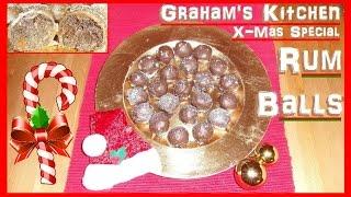 X-mas Special: How To Make Chocolate Rum Balls Tutorial Christmas Cookie Dessert Recipe Sweets