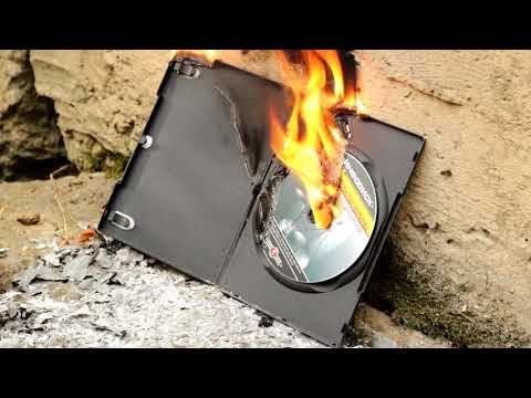 EXPERIMENT Glowing 1000+ degree napalm vs CD disk. Fire vs compact disk