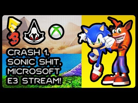 Crash Bandicoot 1 Blind Playthrough, Sonic Shit, Microsoft E3 Stream 2017! #ACOriginBoyz #BandiBoyz