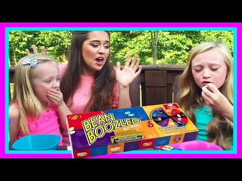 Kids Bean Boozled Food Challenge Super Gross Flavors  W Play Doh Girl, FUN FACTORY & Princess Ella