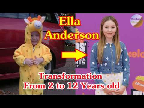 Ella Anderson transformation from 2 to 12 years old