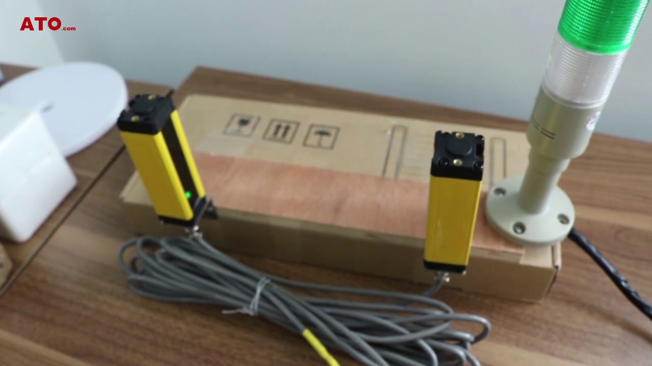Safety Light Curtain Relay Plc Control Wiring Youtube