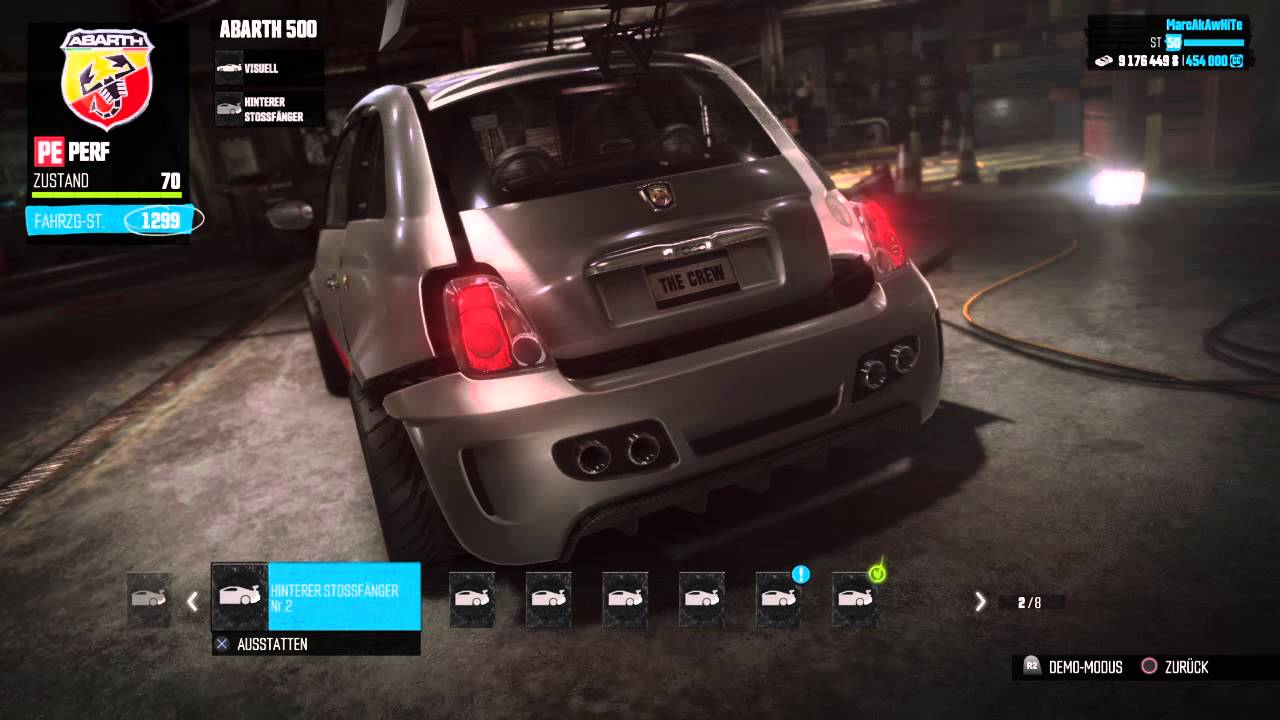 The Crew Abarth 500 Pe Tuning Parts Youtube