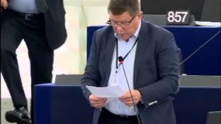 Jednominutowe wystąpienia  susza w Polsce   Zbigniew Kuźmiuk Poseł do PE   7 09 2015 r  Strasburg