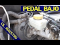 Cambio de cilindro maestro de frenos por pedal bajo flojo