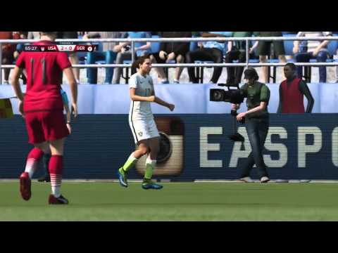 FIFA 16 Demo Gameplay –USA vs. Germany Women's National Teams (Full Match)