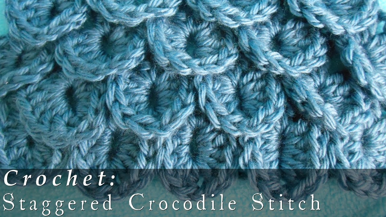 Crocodile stitch staggered crochet youtube bankloansurffo Choice Image
