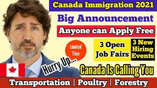 3 NEW Canada Job Fair 2021 | Recruitment Events in Canada | Canada Immigration 2021 | Canadian Dream
