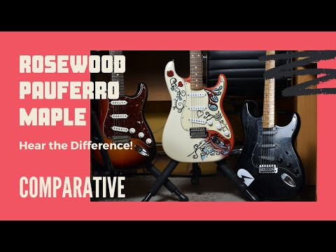 Rosewood vs Maple vs Pau Ferro - The Definitive Tone Comparison! 🎸(Can You Tell The Difference?) 🎸