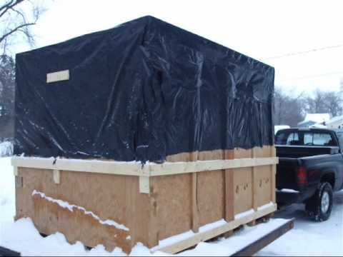 Home made ice fishing shack on the cheap part 2 youtube for Ice fishing house parts