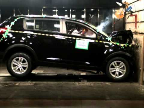 2011 kia sportage crash test frontal impact youtube. Black Bedroom Furniture Sets. Home Design Ideas