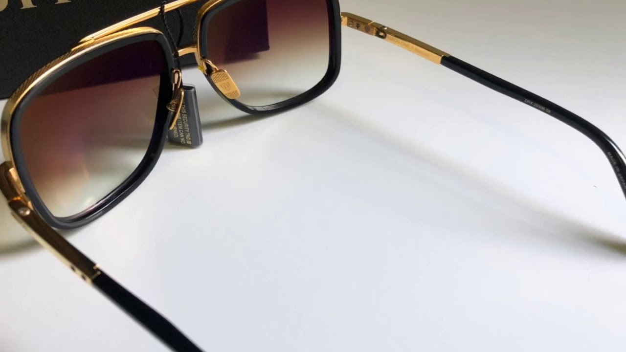 0497c1a69862 Dita Mach One Sunglasses - Black Yellow Gold (Unisex) 100% Authentic ...