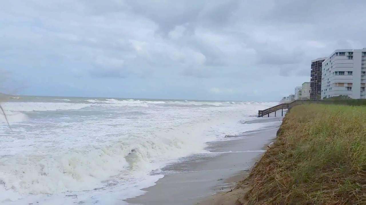 Hurricane Matthew Waves Damage Hutchinson Island Fl Beaches Days After