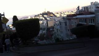 Squealing tires, Lombard Street San Francisco
